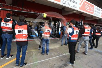 World © Octane Photographic Ltd. Formula 1 – Winter Testing - Test 1 - Day 4. Photographers wait for ROKiT Williams Racing – Robert Kubica. Circuit de Barcelona-Catalunya. Thursday 21st February 2019.