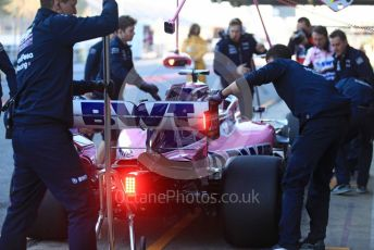 World © Octane Photographic Ltd. Formula 1 – Winter Testing - Test 2 - Day 1. SportPesa Racing Point RP19 – Lance Stroll. Circuit de Barcelona-Catalunya. Tuesday 26th February 2019
