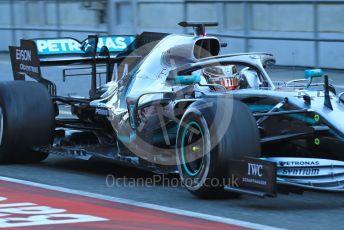 World © Octane Photographic Ltd. Formula 1 – Winter Testing - Test 2 - Day 1. Mercedes AMG Petronas Motorsport AMG F1 W10 EQ Power+ - Lewis Hamilton. Circuit de Barcelona-Catalunya. Tuesday 26th February 2019.