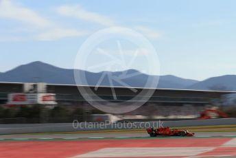 World © Octane Photographic Ltd. Formula 1 – Winter Testing - Test 2 - Day 1. Scuderia Ferrari SF90 – Charles Leclerc. Circuit de Barcelona-Catalunya. Tuesday 26th February 2019.