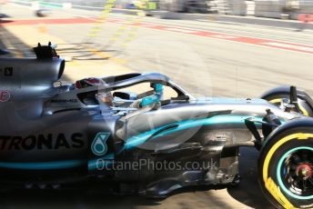 World © Octane Photographic Ltd. Formula 1 – Winter Testing - Test 2 - Day 2. Mercedes AMG Petronas Motorsport AMG F1 W10 EQ Power+ - Lewis Hamilton. Circuit de Barcelona-Catalunya. Wednesday 27th February 2019.