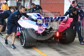 World © Octane Photographic Ltd. Formula 1 – Winter Testing - Test 2 - Day 3. SportPesa Racing Point RP19 – Lance Stroll. Circuit de Barcelona-Catalunya. Thursday 28th February 2019.