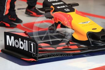 World © Octane Photographic Ltd. Formula 1 – Winter Testing - Test 2 - Day 3. Aston Martin Red Bull Racing RB15 front wing – Pierre Gasly . Circuit de Barcelona-Catalunya. Thursday 28th February 2019.