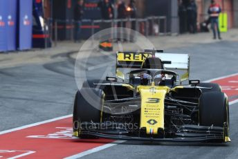 World © Octane Photographic Ltd. Formula 1 – Winter Testing - Test 2 - Day 4. Renault Sport F1 Team RS19 – Daniel Ricciardo. Circuit de Barcelona-Catalunya. Friday 1st March 2019.