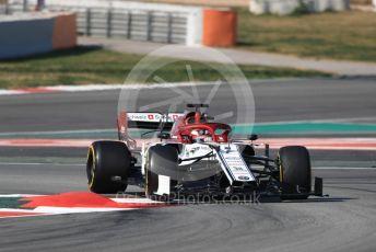 World © Octane Photographic Ltd. Formula 1 – Winter Testing - Test 2 - Day 4. Alfa Romeo Racing C38 – Kimi Raikkonen. Circuit de Barcelona-Catalunya. Friday 1st March 2019.