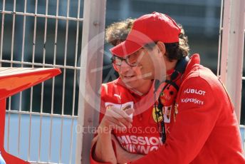 World © Octane Photographic Ltd. Formula 1 - Winter Testing - Test 2 - Day 3. Mattia Binotto – Team Principal of Scuderia Ferrari and John Elkann – CEO of Exor. Circuit de Barcelona-Catalunya. Friday 1st March 2019