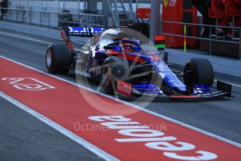 World © Octane Photographic Ltd. Formula 1 – Winter Testing - Test 2 - Day 4. Scuderia Toro Rosso STR14 – Daniil Kvyat. Circuit de Barcelona-Catalunya. Friday 1st March 2019.