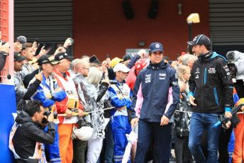 World © Octane Photographic Ltd. Formula 1 – Belgium GP - Drivers Parade. SportPesa Racing Point RP19 – Lance Stroll and ROKiT Williams Racing FW42 – Robert Kubica. Circuit de Spa Francorchamps, Belgium. Sunday 1st September 2019.