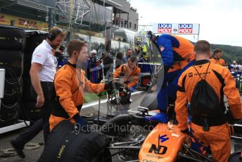 World © Octane Photographic Ltd. Formula 1 – Belgium GP - Grid. McLaren MCL34 – Lando Norris. Circuit de Spa Francorchamps, Belgium. Sunday 1st September 2019.