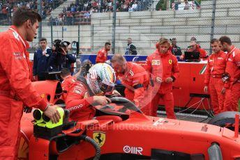 World © Octane Photographic Ltd. Formula 1 – Belgium GP - Grid. Scuderia Ferrari SF90 – Sebastian Vettel. Circuit de Spa Francorchamps, Belgium. Sunday 1st September 2019.