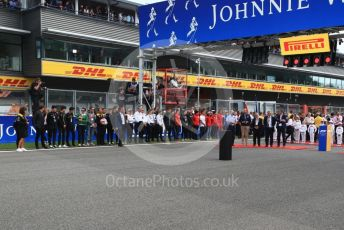 World © Octane Photographic Ltd. Formula 1 - Belgium GP - Grid. Anthoine Hubert tribute. Circuit de Spa Francorchamps, Belgium. Sunday 1st September 2019.