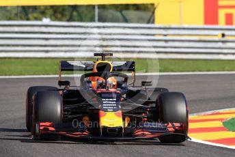 World © Octane Photographic Ltd. Formula 1 – Belgium GP - Practice 1. Aston Martin Red Bull Racing RB15 – Max Verstappen. Circuit de Spa Francorchamps, Belgium. Friday 30th August 2019.