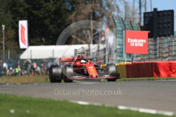 World © Octane Photographic Ltd. Formula 1 – Belgium GP - Practice 2. Scuderia Ferrari SF90 – Sebastian Vettel. Circuit de Spa Francorchamps, Belgium. Friday 30th August 2019.