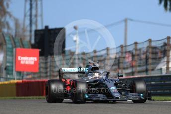 World © Octane Photographic Ltd. Formula 1 – Belgium GP - Practice 2. Mercedes AMG Petronas Motorsport AMG F1 W10 EQ Power+ - Lewis Hamilton. Circuit de Spa Francorchamps, Belgium. Friday 30th August 2019.