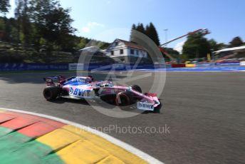 World © Octane Photographic Ltd. Formula 1 – Belgium GP - Qualifying. SportPesa Racing Point RP19 - Sergio Perez. Circuit de Spa Francorchamps, Belgium. Saturday 31st August 2019.