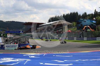 World © Octane Photographic Ltd. Formula 1 – Belgium GP - Race. McLaren MCL34 – Carlos Sainz. Circuit de Spa Francorchamps, Belgium. Sunday 1st September 2019.