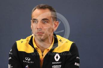 World © Octane Photographic Ltd. Formula 1 - Hungarian GP – Friday FIA Team Press Conference. Cyril Abiteboul - Managing Director of Renault Sport Racing Formula 1 Team. Circuit de Spa Francorchamps, Belgium. Friday 29th August 2019.