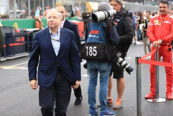 World © Octane Photographic Ltd. Formula 1 - British GP - Grid. Jean Todt – President of FIA. Silverstone Circuit, Towcester, Northamptonshire. Sunday 14th July 2019.