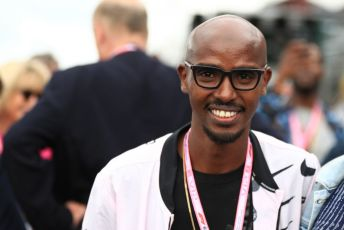 World © Octane Photographic Ltd. Formula 1 – British GP - Grid. Mo Farah. Silverstone Circuit, Towcester, Northamptonshire. Sunday 14th July 2019