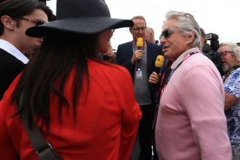 World © Octane Photographic Ltd. Formula 1 – British GP - Grid. Michael Douglas. Silverstone Circuit, Towcester, Northamptonshire. Sunday 14th July 2019.
