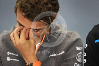 World © Octane Photographic Ltd. Formula 1 – British GP. FIA Drivers Press Conference. McLaren – Lando Norris. Silverstone Circuit, Towcester, Northamptonshire. Thursday 11th July 2019.