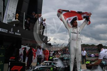 World © Octane Photographic Ltd. Formula 1 – British GP - Race - Podium. Mercedes AMG Petronas Motorsport AMG F1 W10 EQ Power+ - Lewis Hamilton. Silverstone Circuit, Towcester, Northamptonshire. Sunday 14th July 2019.