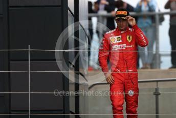 World © Octane Photographic Ltd. Formula 1 – British GP - Race - Podium. Scuderia Ferrari SF90 – Charles Leclerc. Silverstone Circuit, Towcester, Northamptonshire. Sunday 14th July 2019.