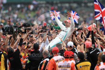 World © Octane Photographic Ltd. Formula 1 – British GP - Race - Podium. Mercedes AMG Petronas Motorsport AMG F1 W10 EQ Power+ - Lewis Hamilton. Silverstone Circuit, Towcester, Northamptonshire. Sunday 14th July 2019.