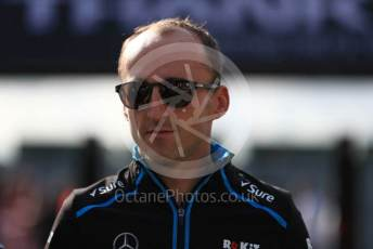 World © Octane Photographic Ltd. Formula 1 – British GP - Paddock. ROKiT Williams Racing FW42 – Robert Kubica. Silverstone Circuit, Towcester, Northamptonshire. Friday 12th July 2019.