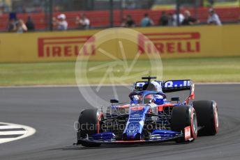 World © Octane Photographic Ltd. Formula 1 – British GP - Practice 1. Scuderia Toro Rosso STR14 – Daniil Kvyat. Silverstone Circuit, Towcester, Northamptonshire. Friday 12th July 2019.