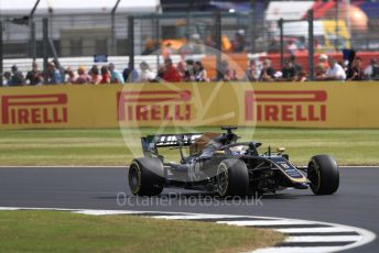 World © Octane Photographic Ltd. Formula 1 – British GP - Practice 1. Rich Energy Haas F1 Team VF19 – Romain Grosjean. Silverstone Circuit, Towcester, Northamptonshire. Friday 12th July 2019.