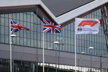 World © Octane Photographic Ltd. Formula 1 – British GP - Practice 2. Formula 1 flag. Silverstone Circuit, Towcester, Northamptonshire. Friday 12th July 2019.