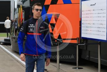 World © Octane Photographic Ltd. Formula 1 – British GP - Paddock. Scuderia Toro Rosso STR14 – Daniil Kvyat. Silverstone Circuit, Towcester, Northamptonshire. Saturday 13th July 2019.