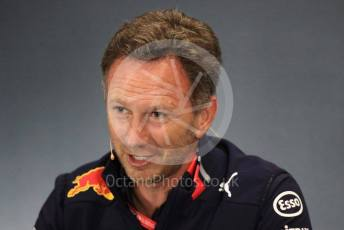 World © Octane Photographic Ltd. Formula 1 - British GP – Friday FIA Team Press Conference. Christian Horner - Team Principal of Red Bull Racing. Silverstone Circuit, Towcester, Northamptonshire. Friday 12th July 2019.