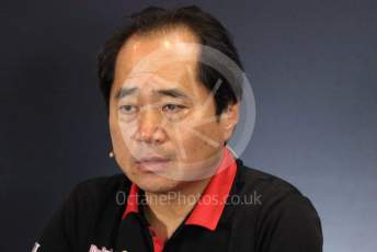 World © Octane Photographic Ltd. Formula 1 - British GP – Friday FIA Team Press Conference. Toyoharu Tanube - Honda Performance Development (HPD) Senior Manager. Silverstone Circuit, Towcester, Northamptonshire. Friday 12th July 2019.