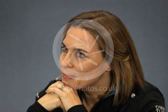 World © Octane Photographic Ltd. Formula 1 - British GP – Friday FIA Team Press Conference. Claire Williams - Deputy Team Principal of ROKiT Williams Racing. Silverstone Circuit, Towcester, Northamptonshire. Friday 12th July 2019.