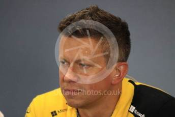 World © Octane Photographic Ltd. Formula 1 - British GP – Friday FIA Team Press Conference. Marcin Budkowski – Executive Director of Renault Sport Racing Formula 1 Team. Silverstone Circuit, Towcester, Northamptonshire. Friday 12th July 2019.