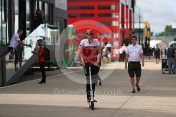 World © Octane Photographic Ltd. Formula 1 – British GP - Paddock. Alfa Romeo Racing C38 – Antonio Giovinazzi. Silverstone Circuit, Towcester, Northamptonshire. Thursday 11th July 2019.