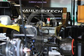 World © Octane Photographic Ltd. Formula 1 – British GP - Pit Lane. Renault Sport F1 Team RS19. Silverstone Circuit, Towcester, Northamptonshire. Thursday 11th July 2019.
