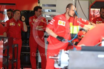 World © Octane Photographic Ltd. Formula 1 - British GP - Paddock. Mattia Binotto – Team Principal of Scuderia Ferrari. Silverstone Circuit, Towcester, Northamptonshire. Thursday 11th July 2019.