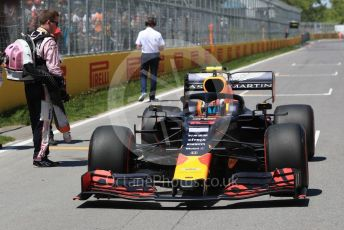 World © Octane Photographic Ltd. Formula 1 – Canadian GP. Grid. Aston Martin Red Bull Racing RB15 – Pierre Gasly. Circuit de Gilles Villeneuve, Montreal, Canada. Sunday 9th June 2019.