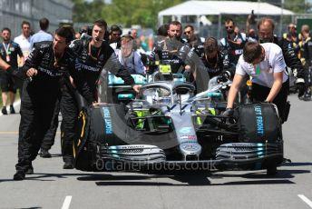 World © Octane Photographic Ltd. Formula 1 – Canadian GP. Grid. Mercedes AMG Petronas Motorsport AMG F1 W10 EQ Power+ - Valtteri Bottas. Circuit de Gilles Villeneuve, Montreal, Canada. Sunday 9th June 2019.