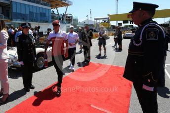 World © Octane Photographic Ltd. Formula 1 – Canadian GP. Drivers' parade. Alfa Romeo Racing C38 – Kimi Raikkonen. Circuit de Gilles Villeneuve, Montreal, Canada. Sunday 9th June 2019.