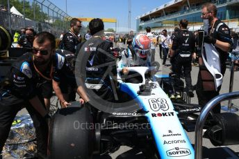 World © Octane Photographic Ltd. Formula 1 – Canadian GP. Grid. ROKiT Williams Racing FW 42 – George Russell. Circuit de Gilles Villeneuve, Montreal, Canada. Sunday 9th June 2019.