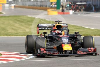 World © Octane Photographic Ltd. Formula 1 – Canadian GP. Practice 1. Aston Martin Red Bull Racing RB15 – Max Verstappen. Circuit de Gilles Villeneuve, Montreal, Canada. Friday 7th June 2019.