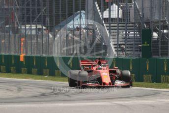 World © Octane Photographic Ltd. Formula 1 – Canadian GP. Practice 2. Scuderia Ferrari SF90 – Sebastian Vettel. Circuit de Gilles Villeneuve, Montreal, Canada. Friday 7th June 2019.