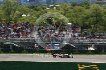World © Octane Photographic Ltd. Formula 1 – Canadian GP. Practice 2. Alfa Romeo Racing C38 – Kimi Raikkonen. Circuit de Gilles Villeneuve, Montreal, Canada. Friday 7th June 2019.