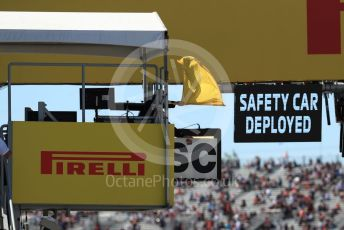 World © Octane Photographic Ltd. Formula 1 - Canadian GP. Practice 3. Safety Car deployed sign. Circuit de Gilles Villeneuve, Montreal, Canada. Saturday 8th June 2019.