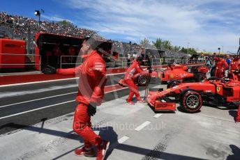 World © Octane Photographic Ltd. Formula 1 – Canadian GP. Practice 3. Scuderia Ferrari SF90 – Charles Leclerc and Sebastian Vettel. Circuit de Gilles Villeneuve, Montreal, Canada. Saturday 8th June 2019.
