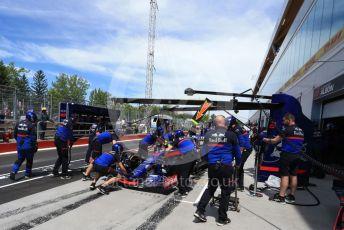 World © Octane Photographic Ltd. Formula 1 – Canadian GP. Practice 3. Scuderia Toro Rosso STR14 – Daniil Kvyat. Circuit de Gilles Villeneuve, Montreal, Canada. Saturday 8th June 2019.